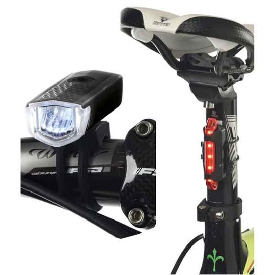 Set Luci Ant + Post 120 Lumen LED Ricarica USB